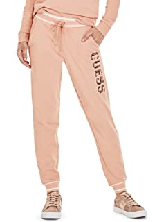 GUESS Factory Womens Ozzy Sequin Logo Joggers