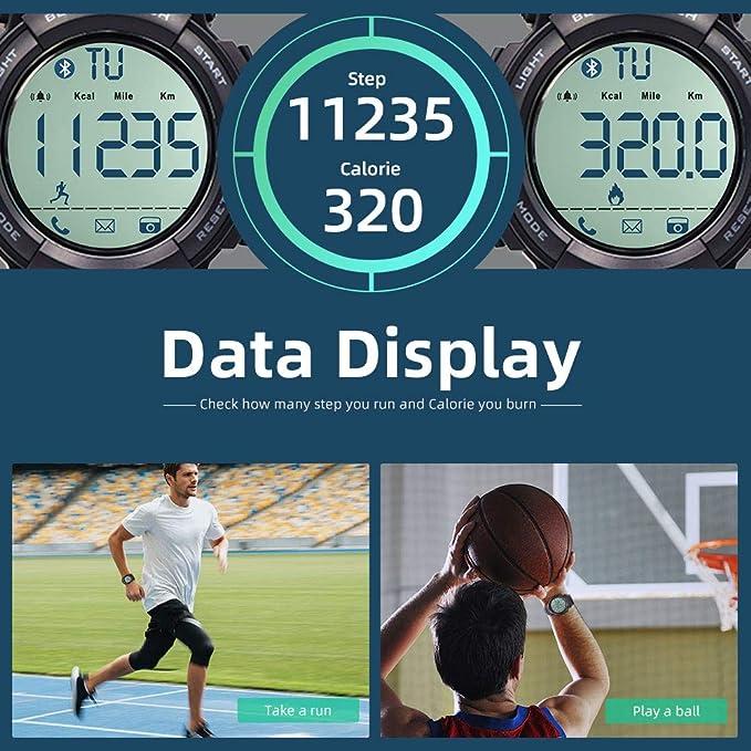 Amazon.com: Beeasy - Reloj digital deportivo para hombre ...