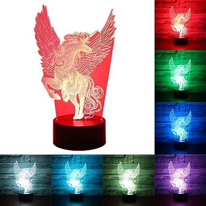 Hguangs Owl Lamp 3D Optical Illusion Night Light 3D Lamp Owl Night ...