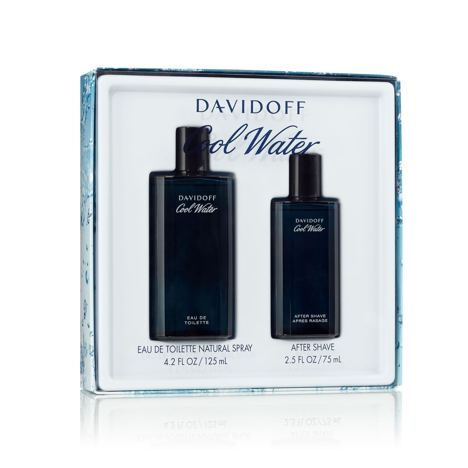 Cool Water By Davidoff For Men Edt Spray 4.2 Oz & Aftershave 2.5 Oz by Davidoff