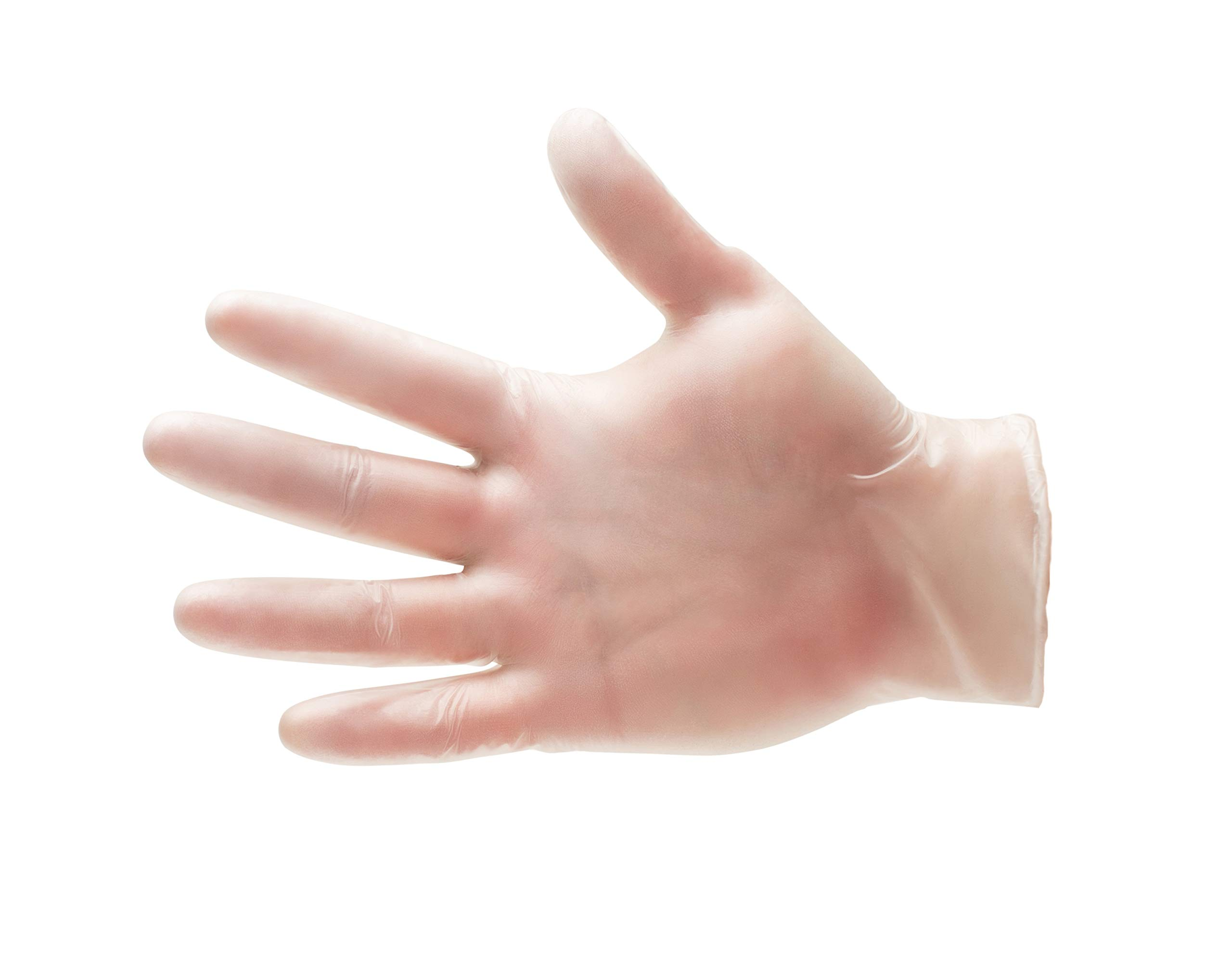Vinyl Disposable Powdered Free Gloves, 5 Mil Thickness, Safety Medical Exam Size-Small (3000 count)