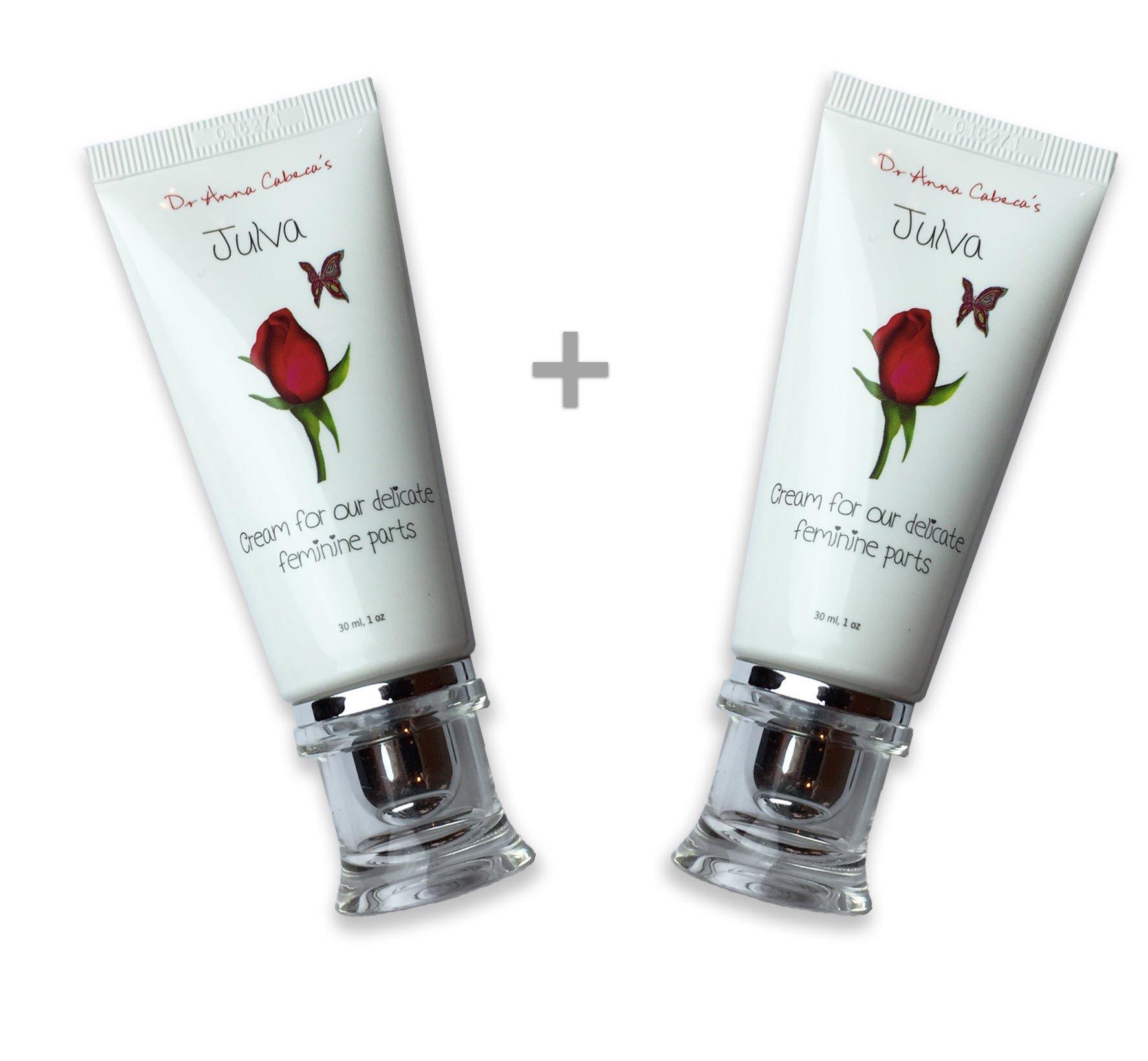 Julva Vaginal Cream Personal Moisturizer - Vaginal Health Moisturizer, Vulva Cream for Dryness, Irritation, Vagina Discomfort Due to Menopause, Thinning (2TUBES)