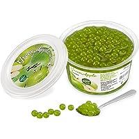 Popping Boba för bubbelté - Fruktpärlor, exploderande bubblor - 450 gram - grönt äpple - INGA konstgjorda färger…