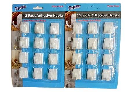 Amazon.com: 24 Pcs Medium pared calcomanía ganchos ...