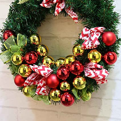 lessonmart christmas decorations for home merry christmas wreath 40cm garland window door decorations bowknot ornament hot