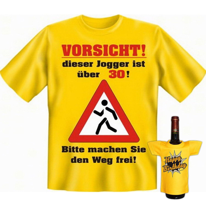 Lustiges Läufer Geschenke Set GoodmanDesign Zum 30. Geburtstag Männer T  Shirt Für Jogger über 30 Jahre Und BIRTHDAY Flaschenshirt : ): Amazon.de:  Bekleidung