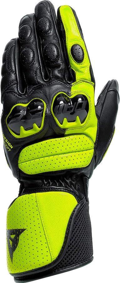 Dainese Motorradhandschuhe Lang Motorrad Handschuh Impeto Handschuh Schwarz Neongelb Xl Herren Sportler Ganzjährig Leder Bekleidung