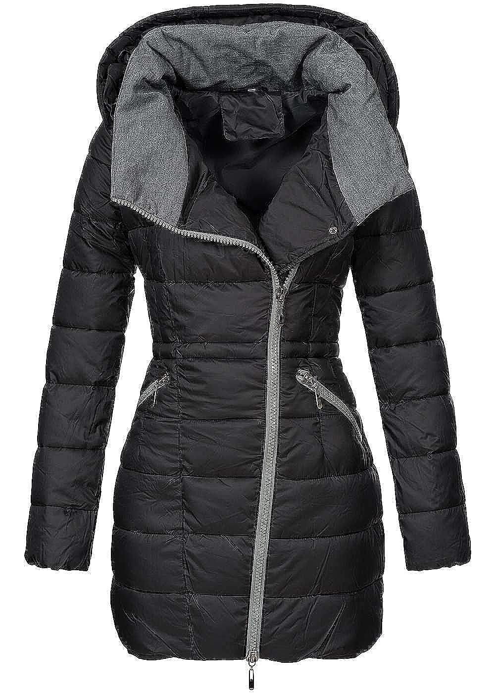 Aiki damen winter mantel kapuze