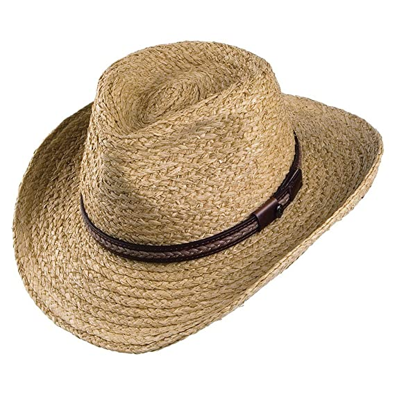 eb9ee6c2b82dab Jaxon & James El Paso Straw Outback Hat - Natural: Amazon.co.uk ...