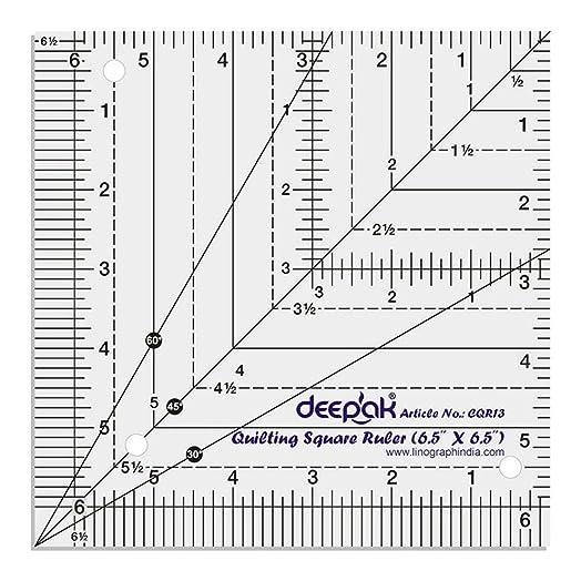 Square Shape Quilt Designing and Crafting Quilting Ruler Template ... : quilting rulers and templates uk - Adamdwight.com
