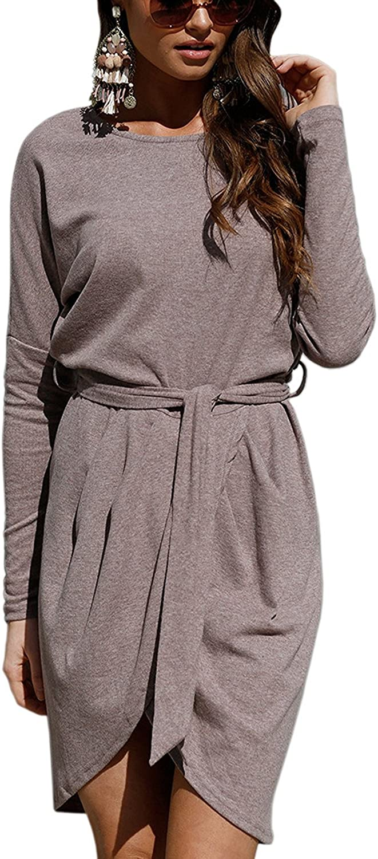 Yidarton Sommer Kleid Damen Shirt Kleider Lang Strandkleid Beach Kleid Partykleid Elegant Maxikleid