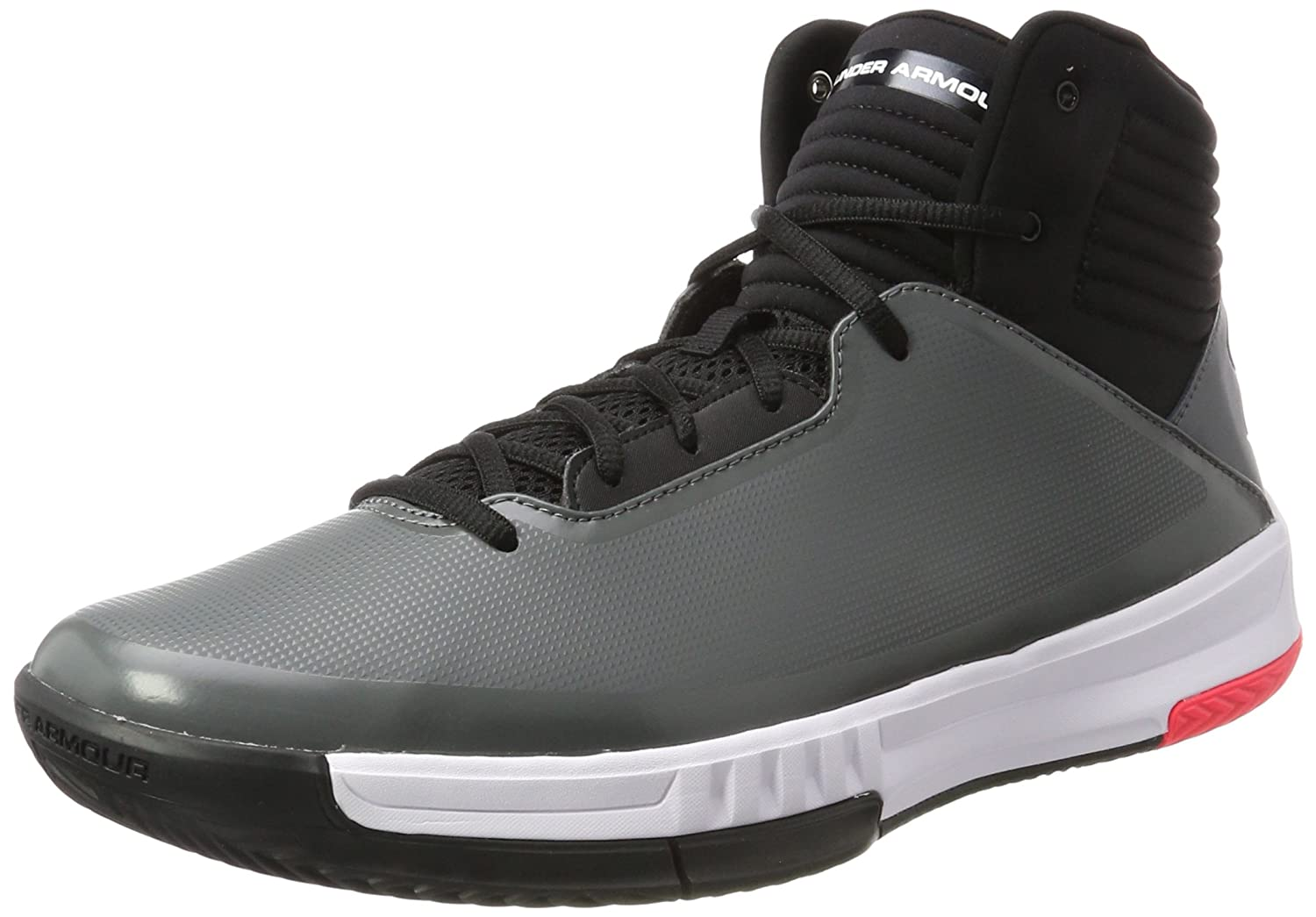 Under Armour Men's Lockdown 2 Basketball Shoe B01MYZKJUO 10.5 D(M) US|Graphite/Black/Black