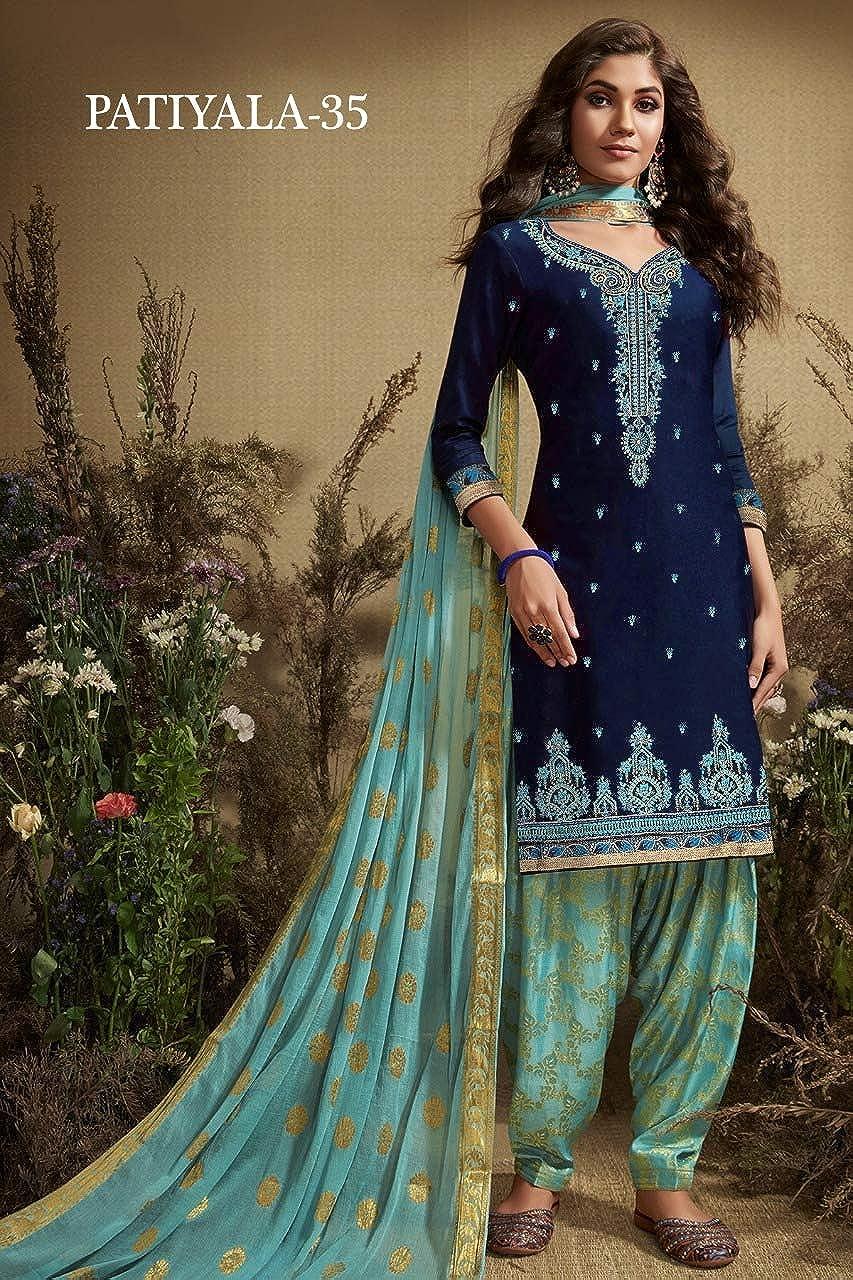 JIVRAJ FASHION Punjabi Patiyala Salwar Kameez Indian Pakistani Ethnic Cotton Stitched Ready to Wear Nazmeen Dupatta Designer Maria B Casual Wear Shalwar Kameez Choice 4