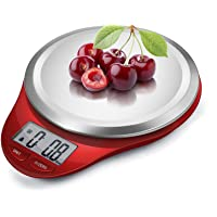 NUTRI FIT Digital Kitchen Scale with Wide Stainless Steel Plateform High Accuracy Multifunction Food Scale with LCD…