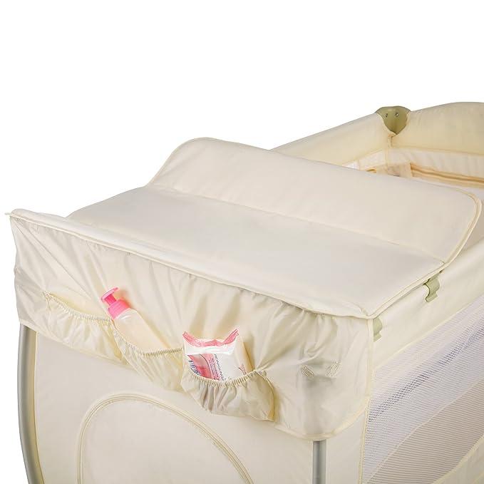 TecTake Cuna infantil de viaje de altura ajustable con acolchado para bebé - disponible en diferentes colores - (Beige | 400467): Amazon.es: Hogar