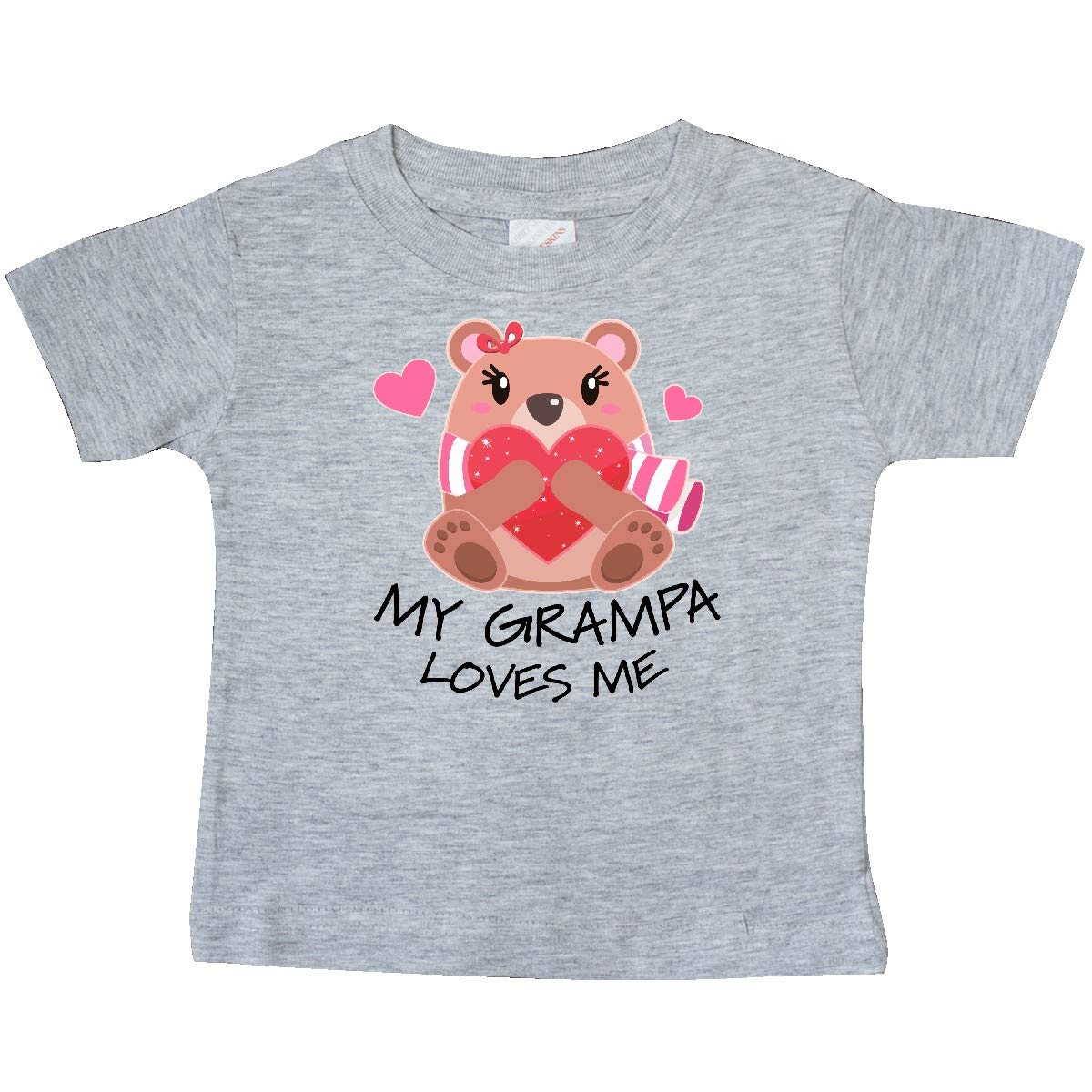 inktastic My Grampa Loves Me Bear and Hearts Baby T-Shirt