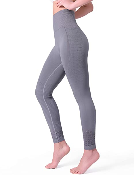 92385cbfe62d1d POSHDIVAH Yoga Pants for Women High Waisted Tummy Control Non See Through  Workout Leggings Grey Small