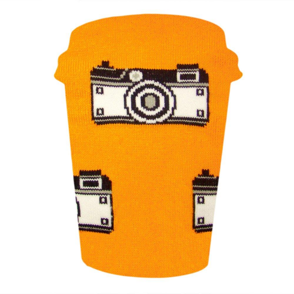 Calze da uomo e donna Calze per il tempo libero Foto//Fotocamera//Hipster CUP OF SOX Calze da regalo Calze in una tazza da caff/è Calze nei bicchieri di carta