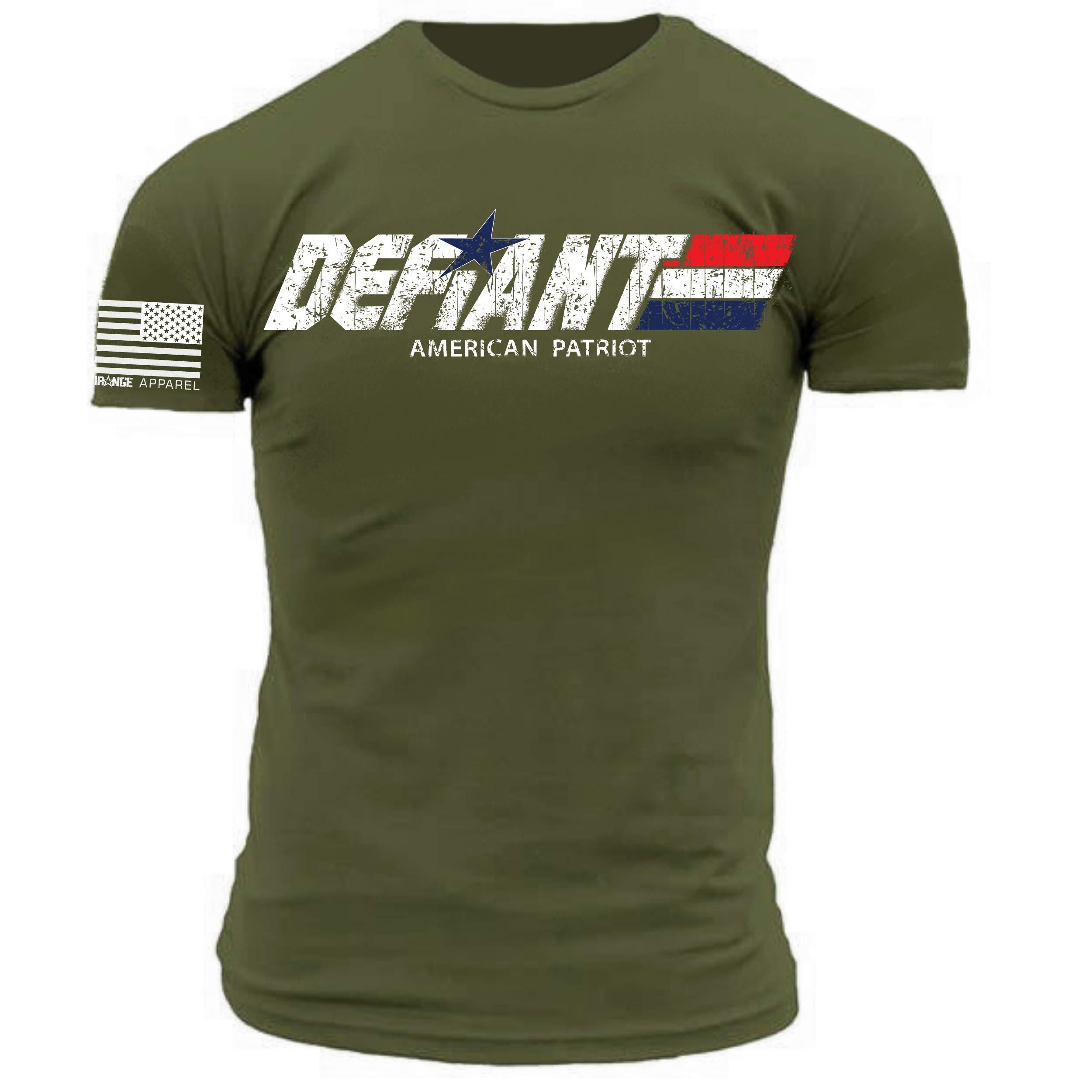 Defiant American Patriot Military Green Premium Athletic T Shirt 8031
