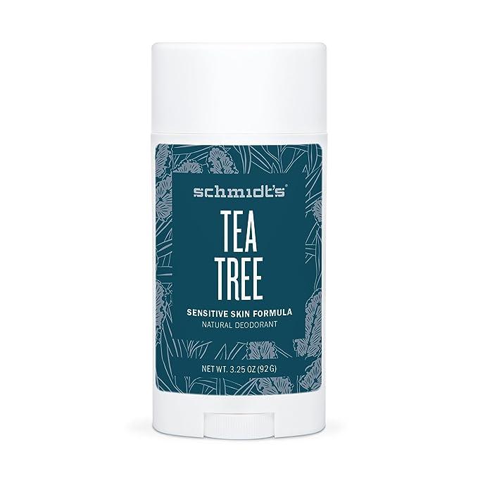 Schmidts Natural DeodorantTM - Tea Tree Sensitive Skin Stick (3.25 oz.; Odor Protection & Wetness Relief; Aluminum-Free) by Schmidts Deodorant: Amazon.es: ...