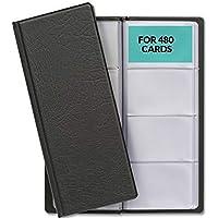 Tarjetero con 480 Fundas - Organizador para Tarjetas de Visita de Escritorio - Compacto - Para Tarjetas de 5,5 x 8,5 cm