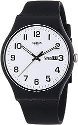 Swatch Twice Again White Dial Plastic Silicone Quartz Unisex Watch SUOB705