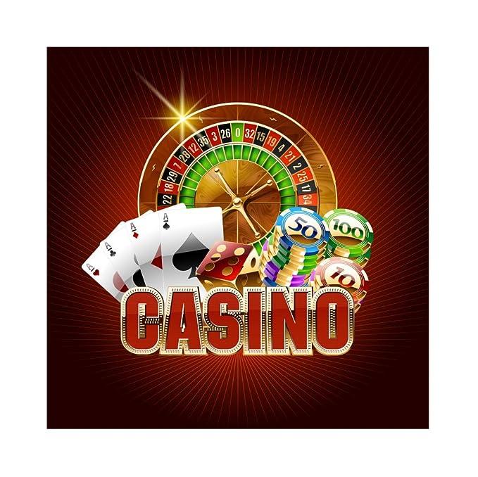 OERJU 1,5x1,5m Casino Fondo Moneda de Juego Poker Ace Mesa ...