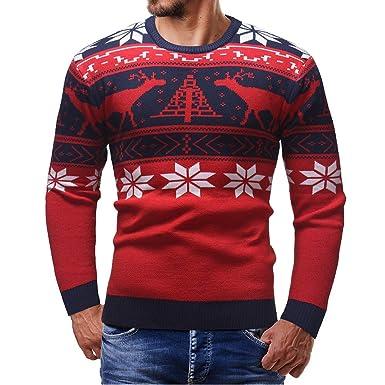 FRAUIT Herren Drucken Pullover Sweater Männer Herbst Winter Hemd ...