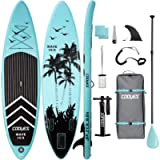 Cooyes Inflatable Stand Up Paddle Board 10'6' with Free Premium SUP Accessories & Backpack, Non-Slip Deck. Bonus…