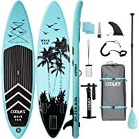 """Cooyes Inflatable Stand Up Paddle Board 10'6"""" with Free Premium SUP Accessories & Backpack, Non-Slip Deck. Bonus…"""