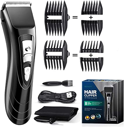 Amazon Com Niceauty Hair Clippers For Men Electric Cordless Clippers For Hair Cutting Professional Quiet Barber Clippers Hair Beard Trimmer With Usb Fast Charge 2 Guide Combs Rechargeable And Waterproof Health