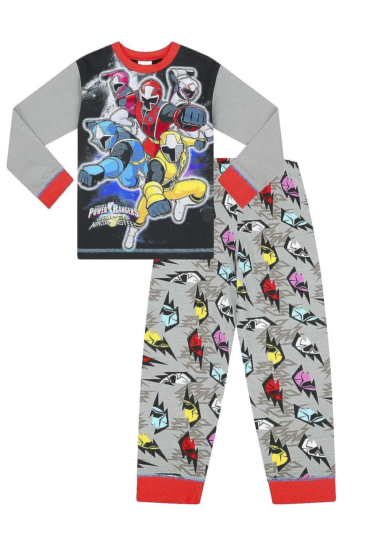 Pigiama Lungo da Bambino Power Rangers Super Ninja Steel da 3 a 8 Anni