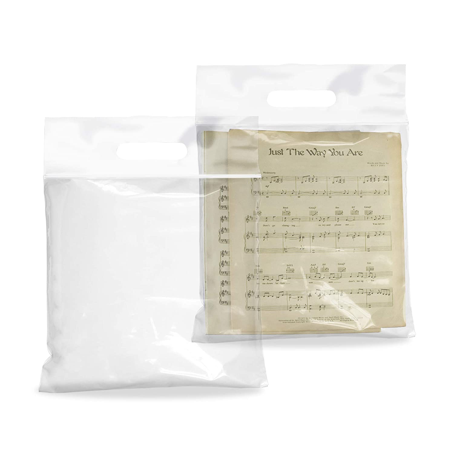 APQ 100 Pack Die Cut Zip Lock Bags 9 x 9.5 Thickness 3 Mil, 3 Inch Lip. Clear Poly Handle Bags 9x9.5. Polyethylene Industrial Bags for Food Service.