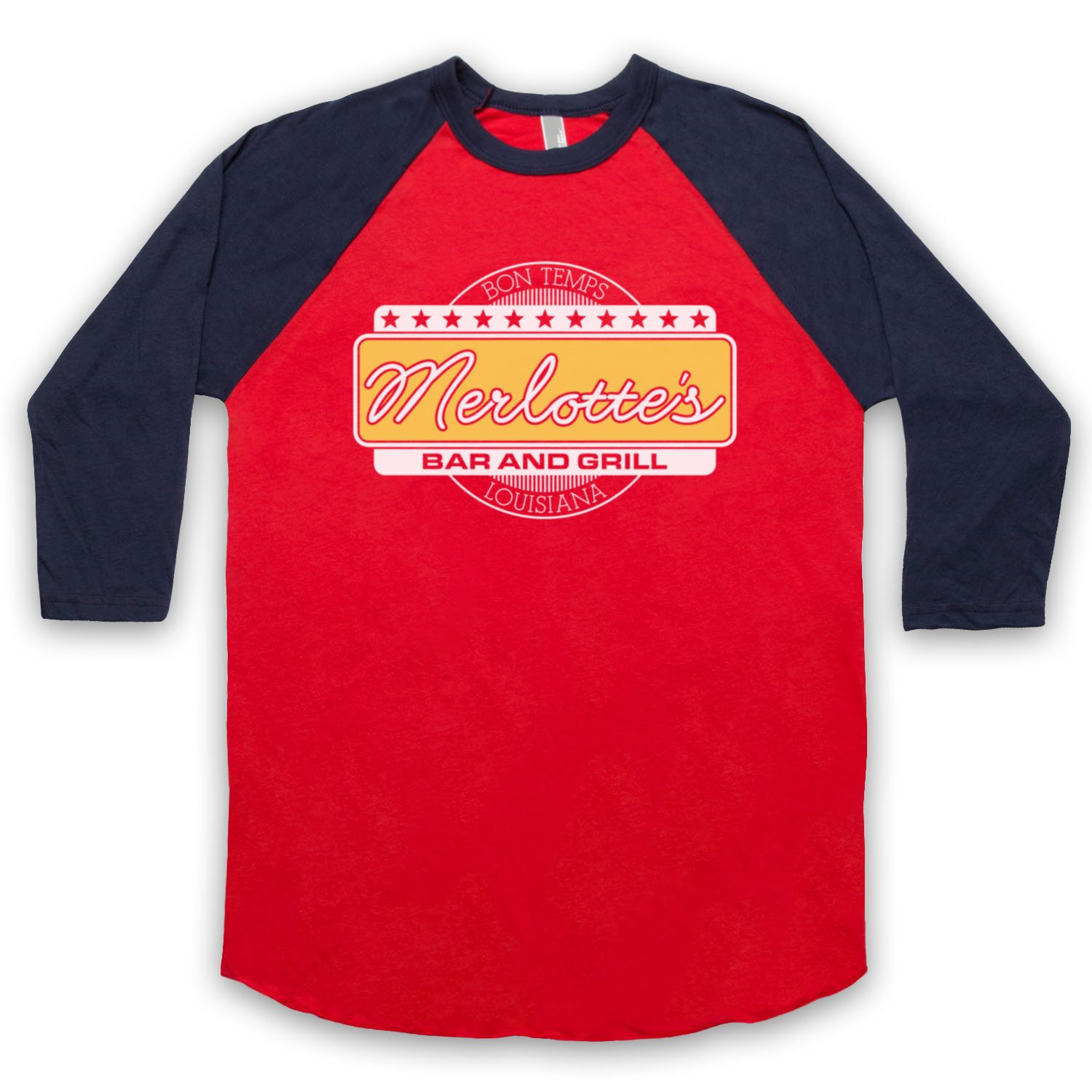 Inspired by True Blood Merlotte's Bar & Grill Unofficial 3/4 Sleeve Retro Baseball Tee