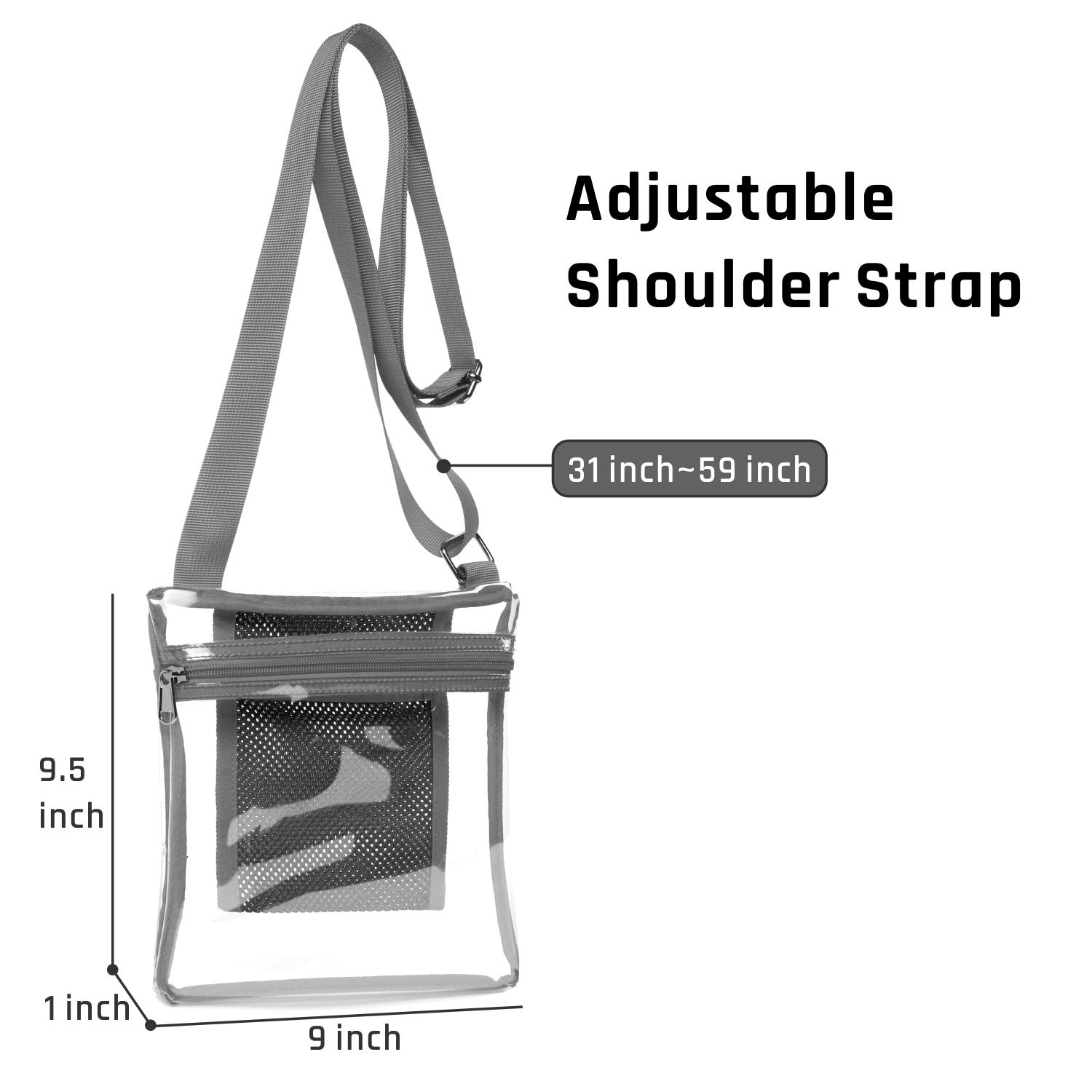32d2ba72b185 NFL PGA Clear Purse iSPECLE Clear Bag Stadium Approved for BTS ...