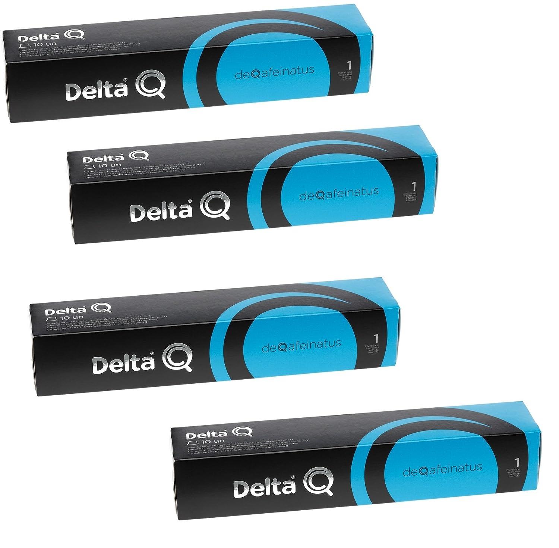Pack Xl 40 Café descafeinado - Cápsulas Delta Q - INTENSIDAD 1 - 4 X10 capsulas,DEQAFEINATUS