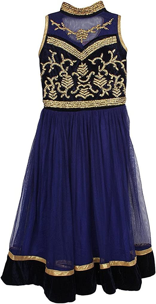 Arshia Fashions Girls party wear frock dress Ethnic Wear at amazon
