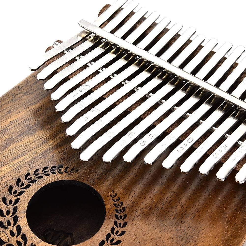 Samber Kalimba 17 Keys Thumb Piano Solid Finger Piano 17Key EQKalimbaSolidAcaciaThumbPianoLinkSpeakerElectricPickupwithBagCable with Tuning and Note Layout by Samber (Image #5)