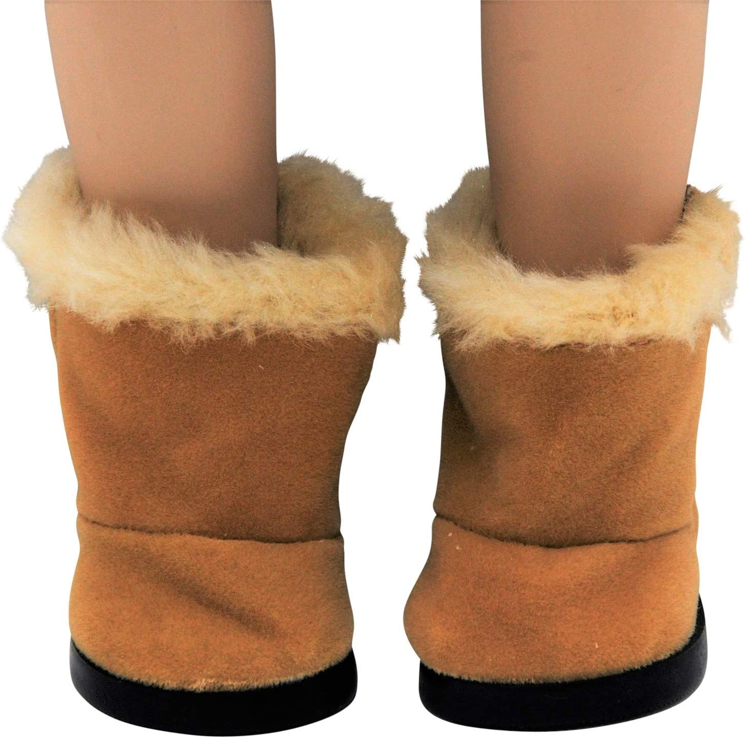Sherpa Style Boot /& Shoe Box The Queen/'s Treasures® AGSUGB The Queens Treasures 18 Doll Shoes Clothing Accessory for American Girl