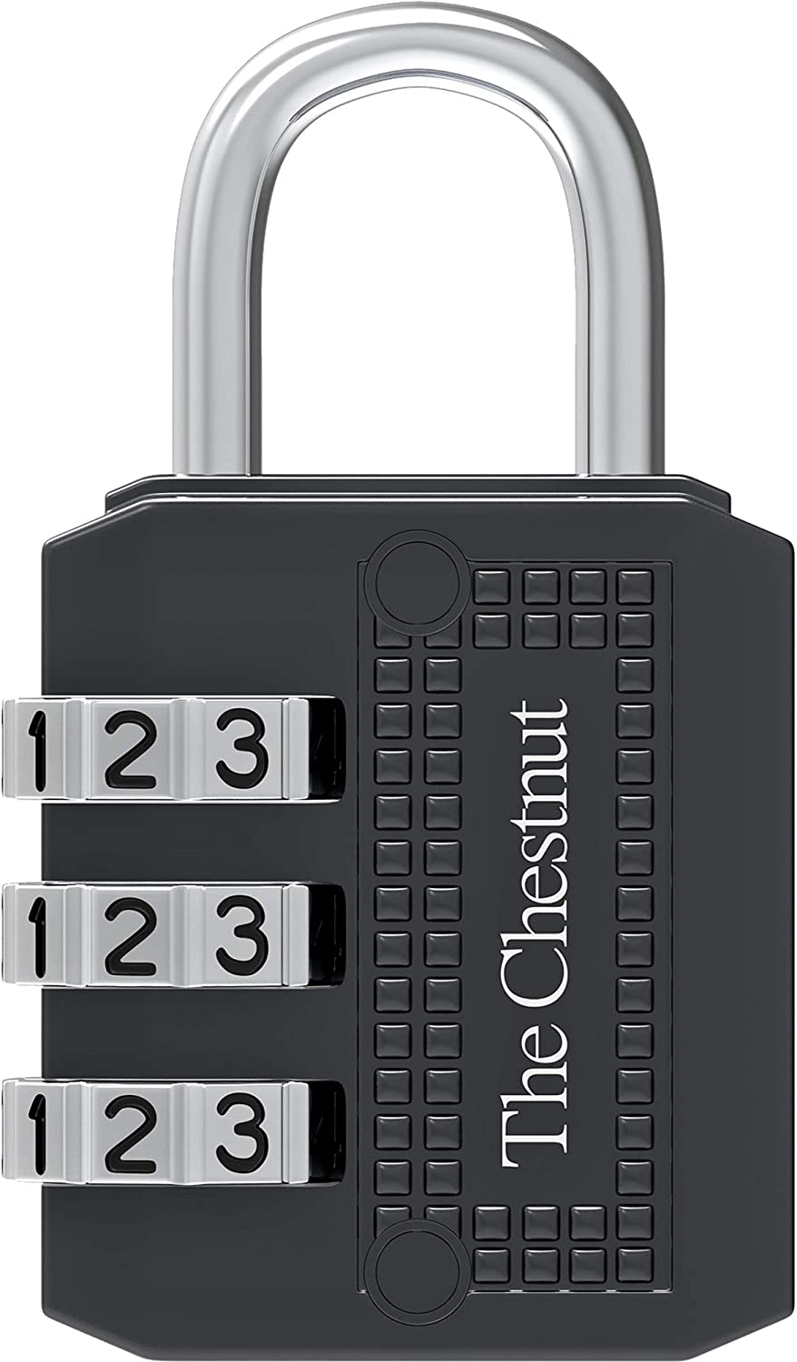 Padlock with 3 Digit Combination - Outdoor Weatherproof Combination Lock - Keyless Resettable Combo - for Luggage, Fence, Travel, Gate, Door, School, Gym, Sports, Toolbox, Case, Employee Lockers, Hasp