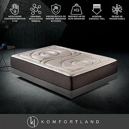 Komfortland Colchón viscoelástico Memory Platinum de 9 cm de