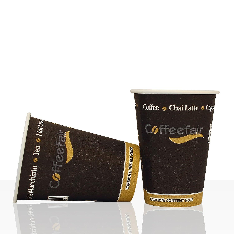 Automat Taza Coffe efair 50 unidades, 180 ml, de vasos de papel templado: Amazon.es: Hogar