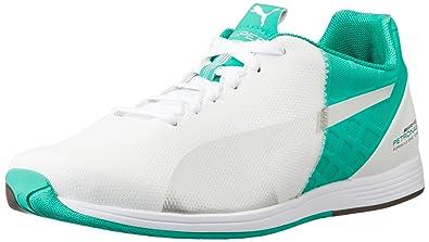 Puma Unisex MAMGP evoSPEED 1.4 White, Puma Silver and Spectra Green Sneakers  - 10 UK