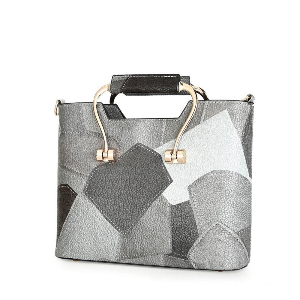 Summer Women'S Bag Style Street Single Shoulder Handbag,Gray,20X27X10Cm