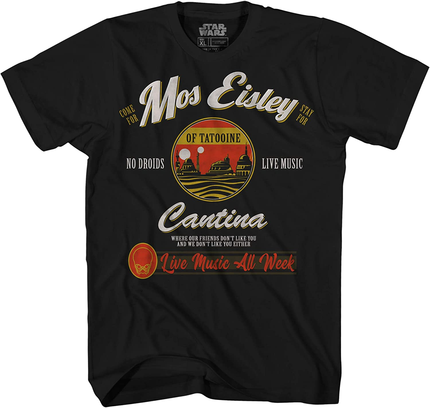 Star Wars Mos Eisley Cantina Tatooine Men's Adult Graphic Tee T-Shirt