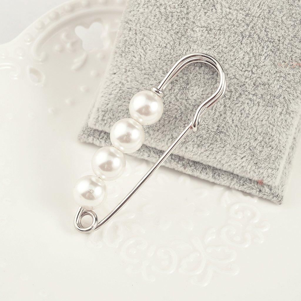 Sharplace 2pcs Broche et Pin Epingle S/écurit/é avec Perle Bijoux Femme Fille