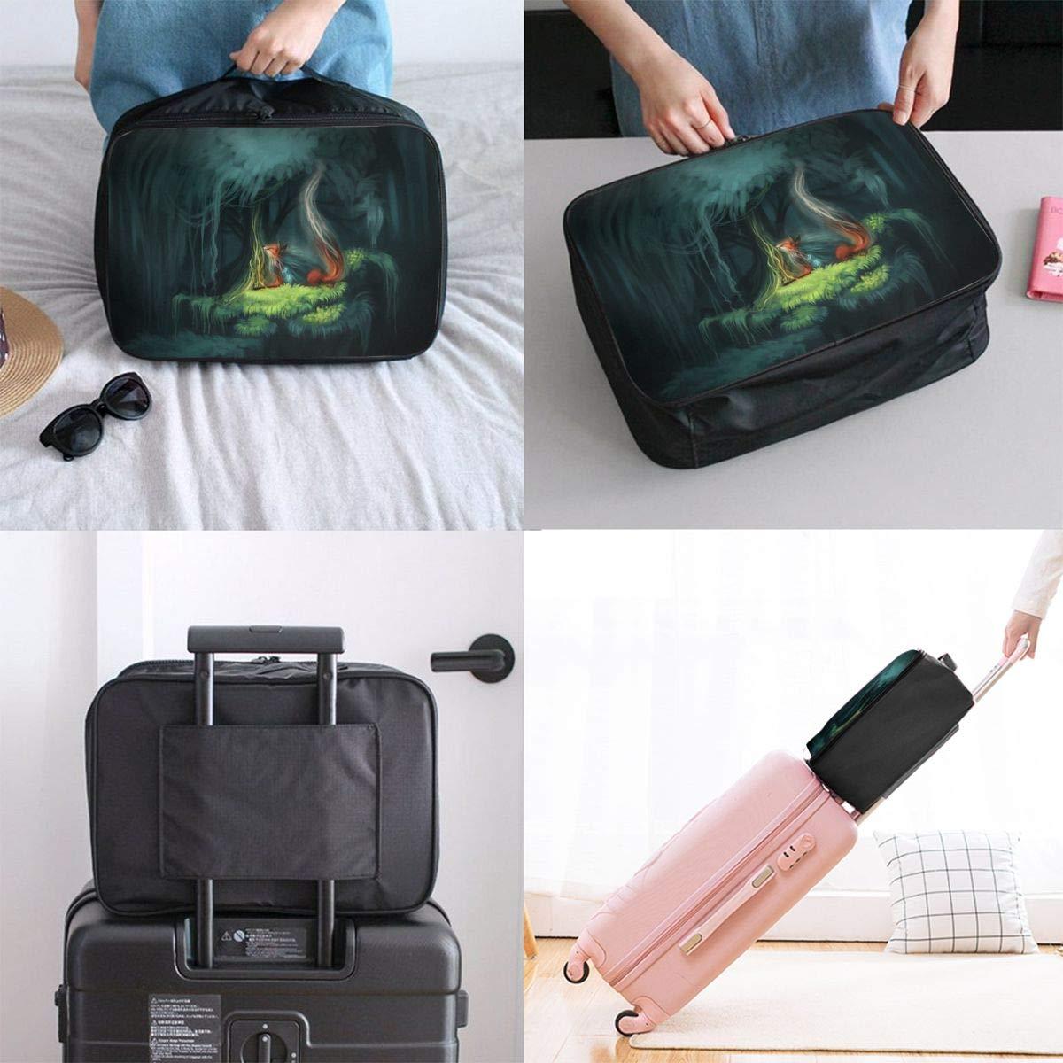 Travel Luggage Duffle Bag Lightweight Portable Handbag Fox Large Capacity Waterproof Foldable Storage Tote