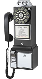 Crosley Cr56 Bk 1950 S Payphone With Push On Technology Black