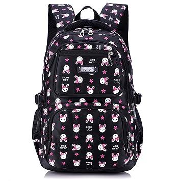 Uniuooi Primary School Backpack Book Bag for Girls 8-12 Years Old  Waterproof Nylon Schoolbag bd8c4aa336696