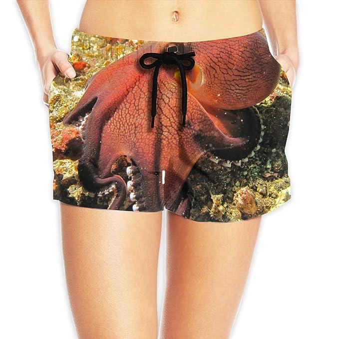 Amazon.com: Women's Girl Coconut Octopus Summer Casual Sexy Hot Shorts  Swimwear: Clothing